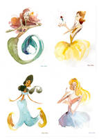 Disney Princesses by Ebae