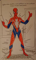 My Spider-Man Suit from Marvel Doodles by MaleVolentSamSon