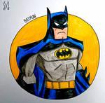 Batman 90's Bust Drawing