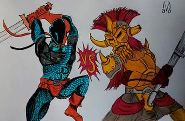 Deathstroke VS Legate Lanius [Art Trade]