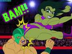She-Hulk Flying Gamma Bomb by MaleVolentSamSon