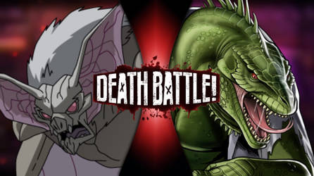 DEATH BATTLE!: Man-Bat VS Lizard by TheSelfishEnd