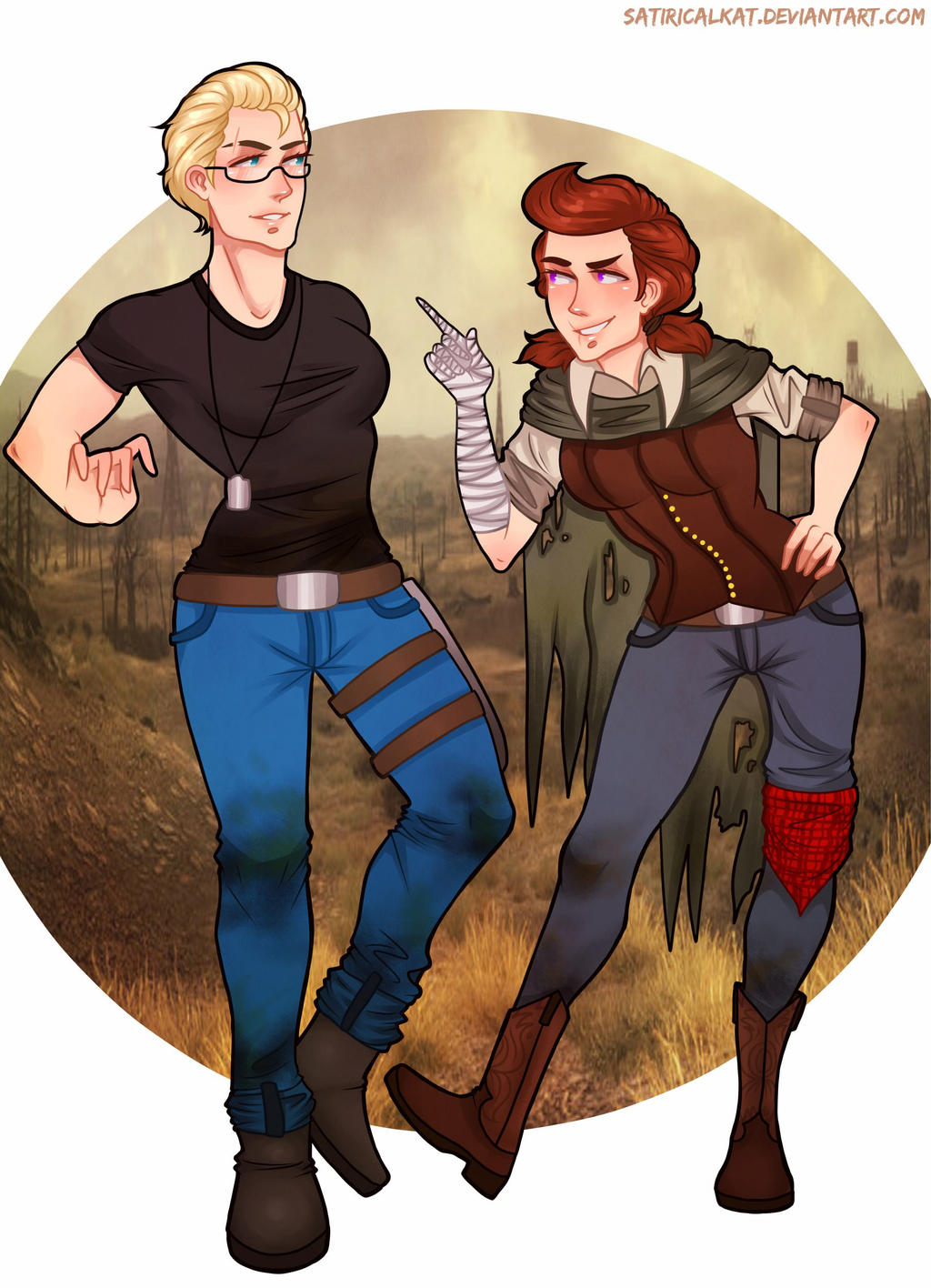 Fallout 3 Anime Characters : Fallout gabriela and michelle genderbend by satiricalkat