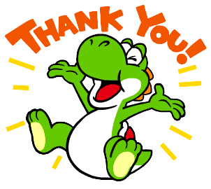 Yoshi Thank You sticker (barefoot) by CharmanDrigo