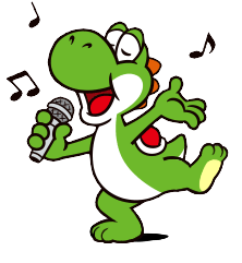 Yoshi barefoot singing (Sticker) by CharmanDrigo