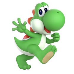 SSBU Shoeless Yoshi render by CharmanDrigo