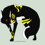 Glowing Tribal Wolf Auction~OPEN by Evelent
