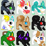 Dog Icons~ by Evelent