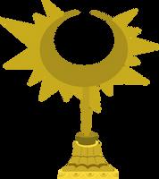 Ceremonial Sun Motif Statue by MillennialDan