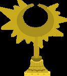 Ceremonial Sun Motif Statue