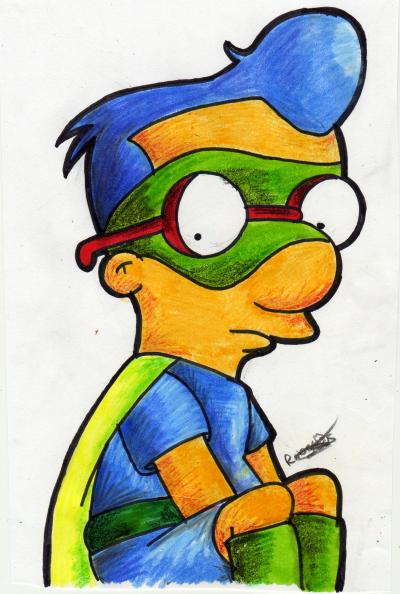 Milhouse as Fallout Boy by LeeRoberts