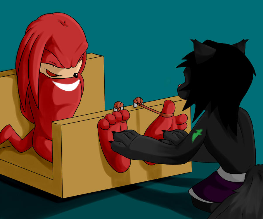 P. Commission: Knuckles_Flare by wtfeather