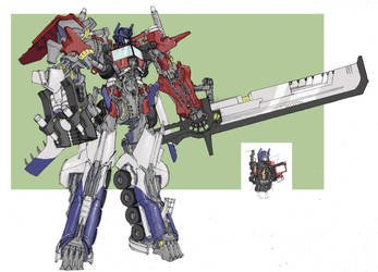 Movie Optimus Prime REVISED by TGping
