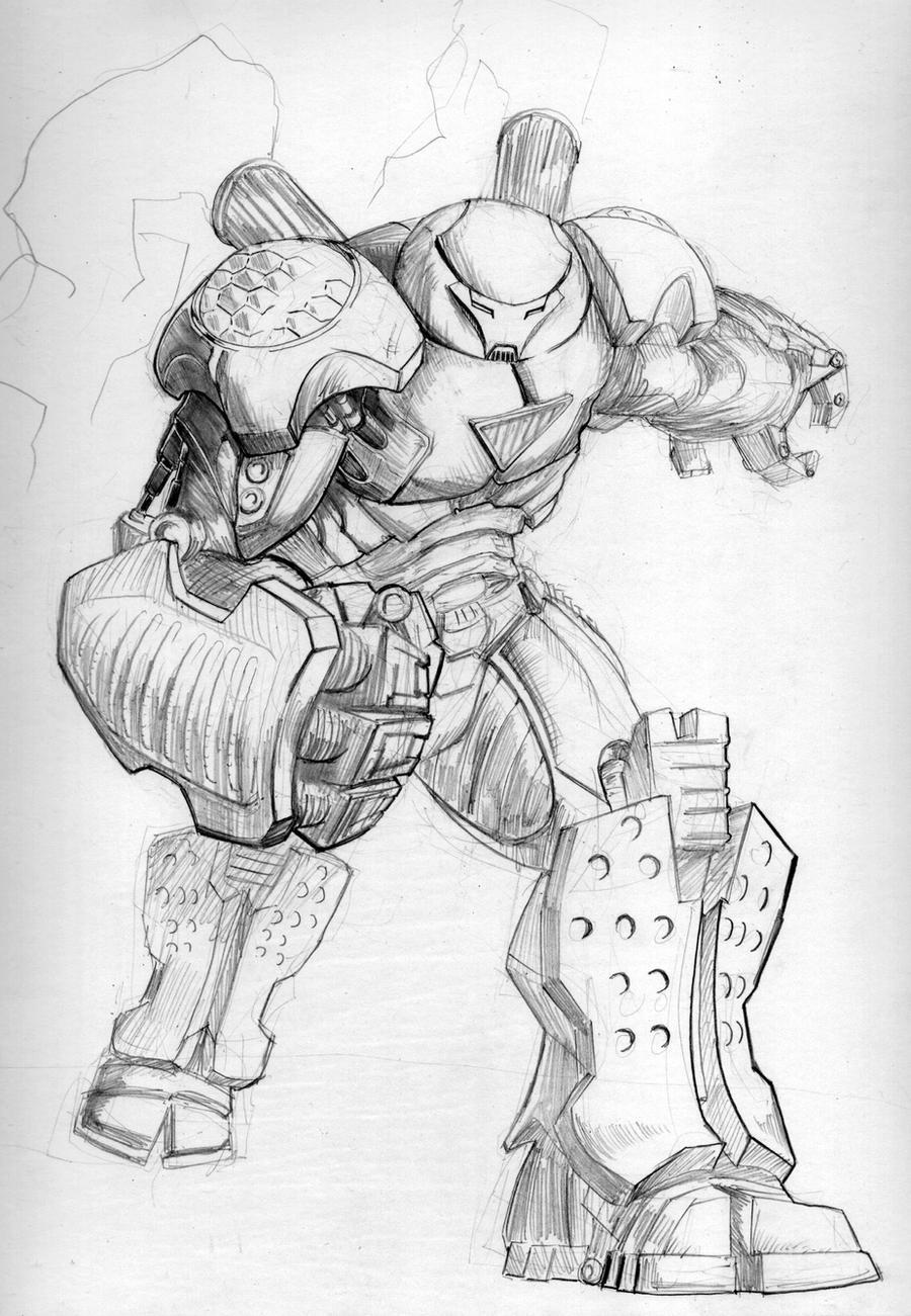 Hulkbuster Iron Man pencils by TGping on DeviantArt