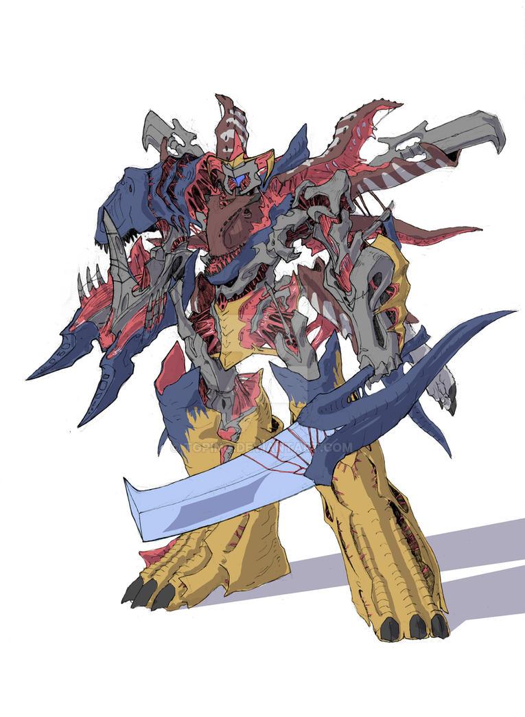 Tyranno-Carnotaurus Fusion by TGping