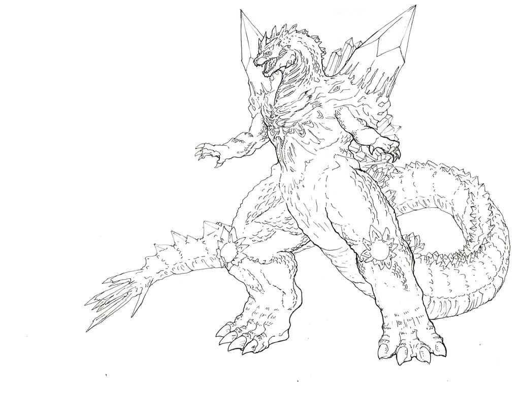 king ghidorah coloring pages to print coloring pages