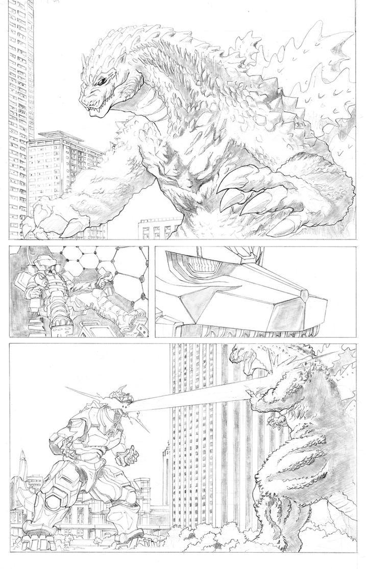 Godzilla Vs. Mechagodzilla pg 2 by TGping