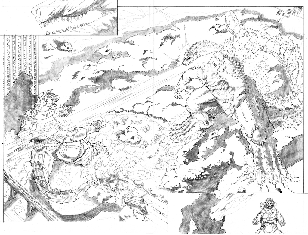 how to draw king ghidorah