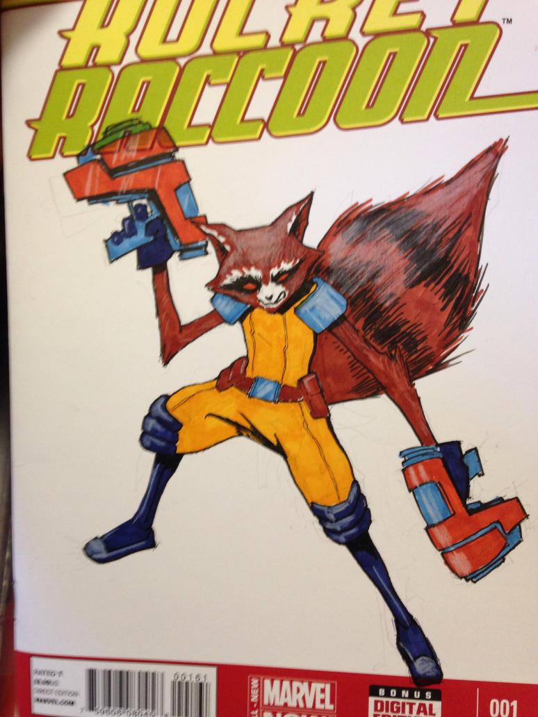 Rocket Raccoon GotG sketch cover by TGping