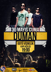 Duman Concert Poster