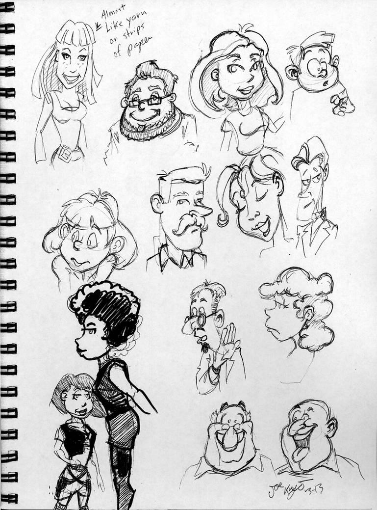 Cartoon characters sketches by joe5art