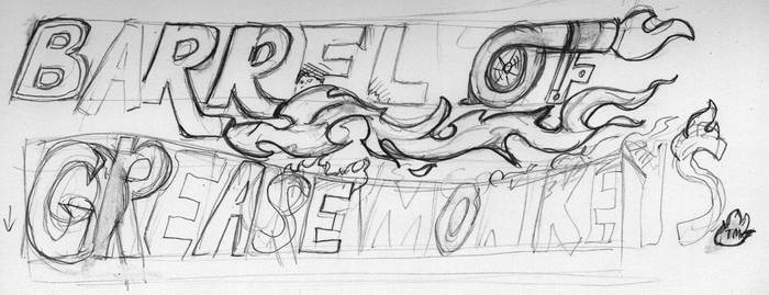 Rough Barrel of Grease Monkey logo