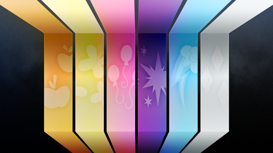 MLP Mane Six Wallpaper by Bardiel83