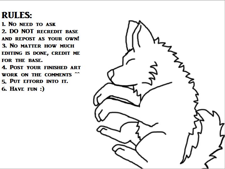 Chibi Wolf Base Chibi Wolf Pup Base by