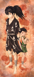 Dororo and Hyakkimaru by Lengurkur