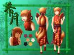Kitsuki Ref Sheet by Lengurkur