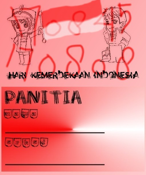 Nametag Panitia 17 Agustus By Sakura26syaoran21 On Deviantart