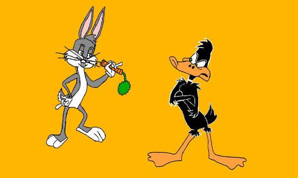 Bugs Bunny and Daffy Duck  by EdEddnEddy3456