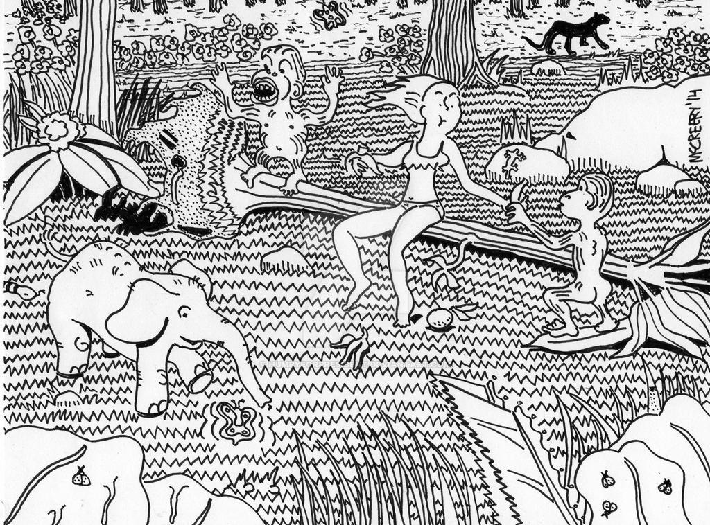 She-La Breaks With Jungle Friends by humpyforpresident on