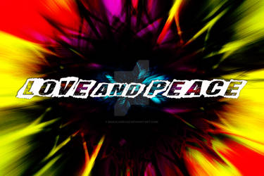 Love and Peace Psychedelic Design