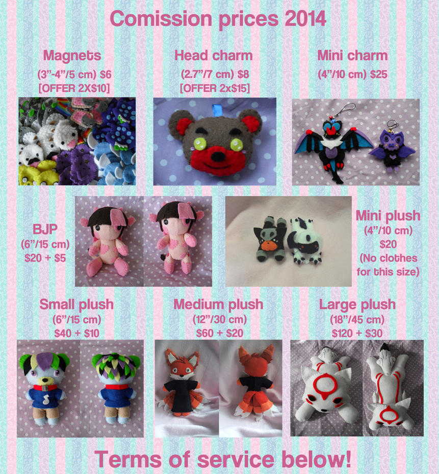 Commission Prices 2014 by Sexual-Pancake