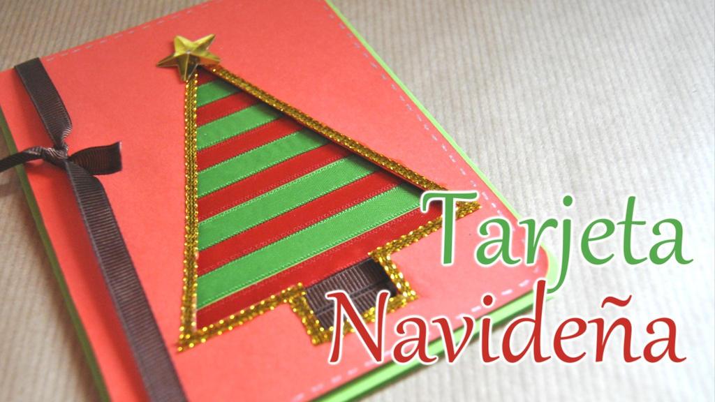 Tarjeta navidad arbol de navidad by brotesdecreatividad - Tarjetas de navidad artesanales ...