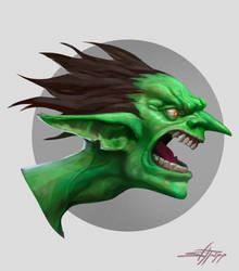 Goblin Portrait by StephenH-TRIPP