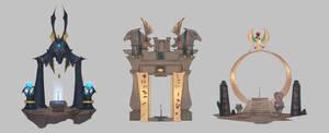 Egypt mythology portal design