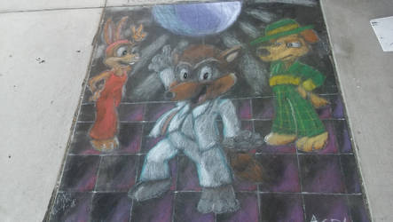 Stayin' Alive via Chalk Art! by chameleonice