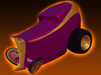 Stylized 32' Ford Highboy Hot Rod 3D