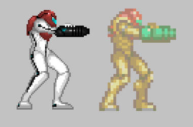 Metroid Dread Sprite by Demmmmy