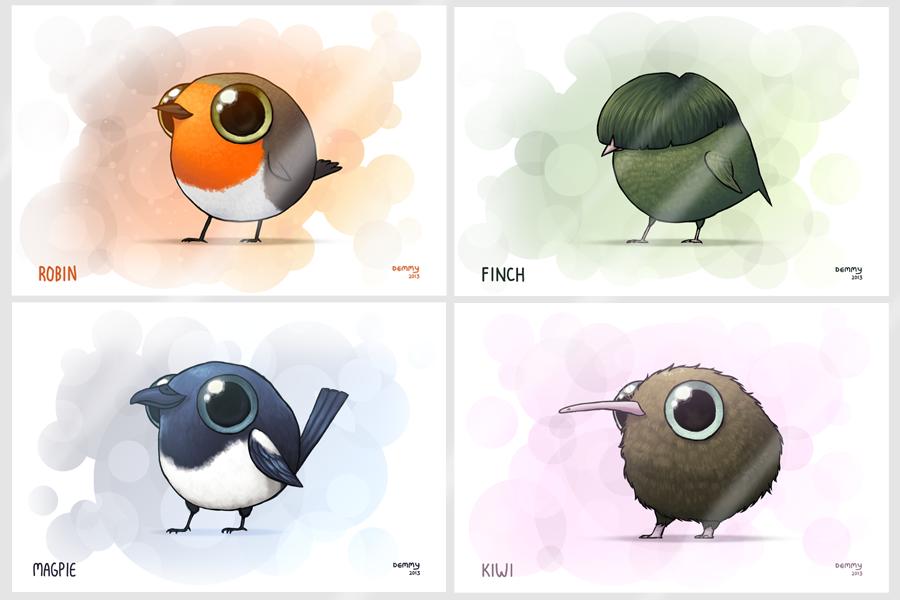 Small Cute Birds By Demmmmy On DeviantArt