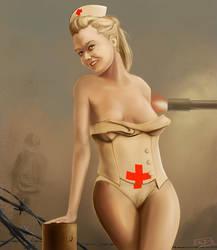Nurse Pinup by Atmadog