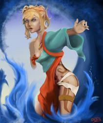 Khionneres, Eledrin Wizard by Atmadog