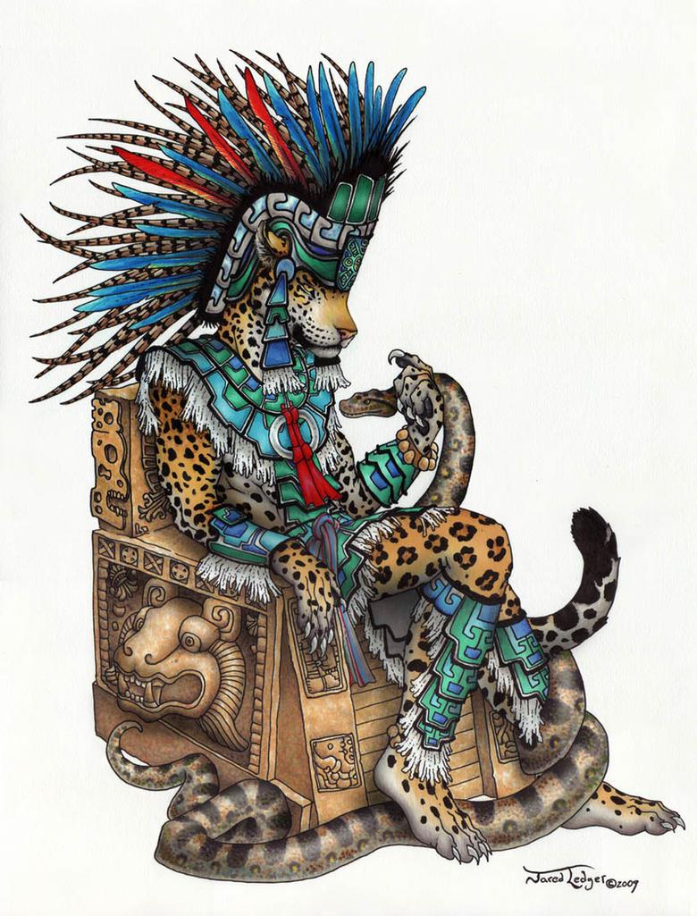 Tepeyollotl - Aztec Jaguar God by ScribbleFox on DeviantArt