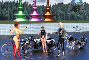 A Bike Meetup Begins To Assemble by luqu