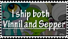 Sepper and Vinnil- stamp by pink-gorilla