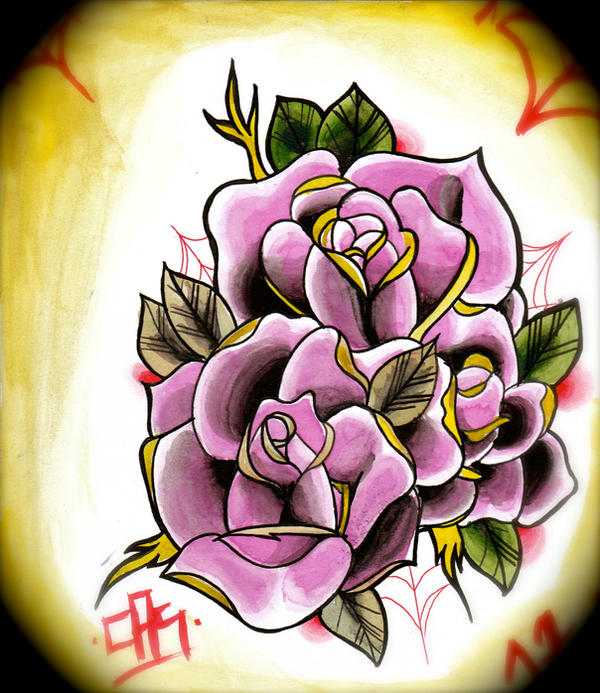 New School Rose Tattoo Related Keywords & Suggestions ...
