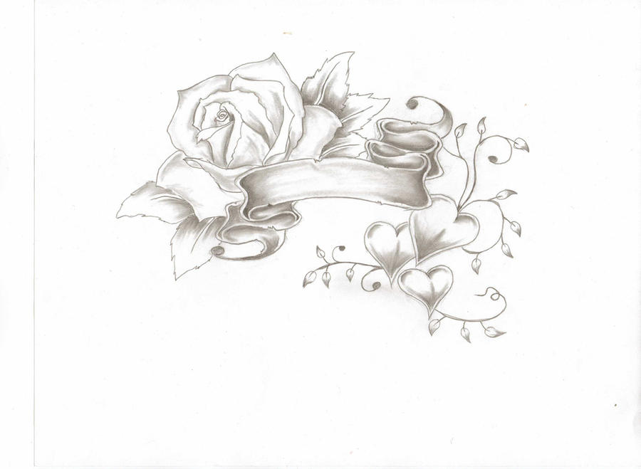 Heart With Rose And Banner: Tattoo Pics By Patricia Hodge