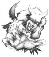 Lunging werewolf by golic